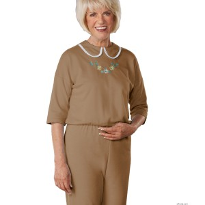 Womens Adaptive Alzheimers Clothing Anti-Strip Suit Jumpsuit