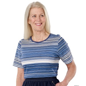 Womens Adaptive Open Back T-Shirt Top - Women With Disabilities
