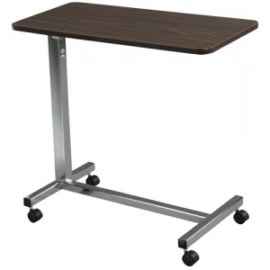 Overbed Table Non-Tilt With Chrome Base & Mast