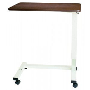 Overbed Table Automatic With XL Top & Opal Powder Coat U Base