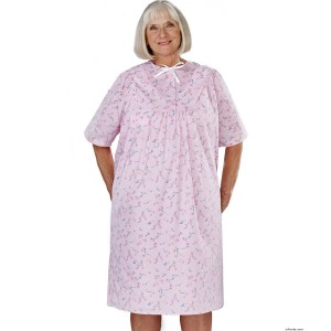 Hospital Gowns - Women's Pretty Cotton Hospital Patient Gowns - Open Back Nightgowns