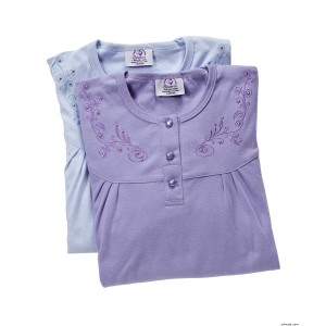 Hospital Gowns - Value 2 Pack Womens Hospital Nightgown