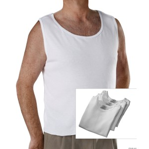 Save With 3 Pack - Mens Open Back Adaptive Under Vests
