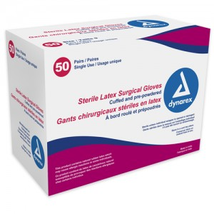 Sterile Latex Surgical Gloves Size 7 Box/50 Pair