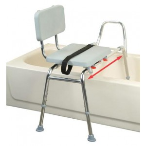 Snap N Save Sliding Transfer Bench With Padded Seat & Back XL