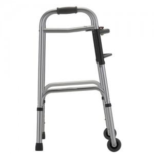 "Folding Walker With 3"" Wheels 2 Button Small"