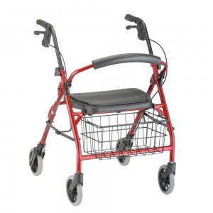 Cruiser Deluxe Jr Rolling Walker Red