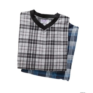 Mens Adaptive Flannel Hospital Gowns - Save With Value 2 Pack