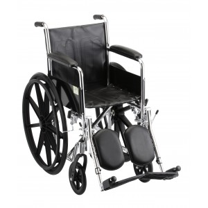 "Wheelchair Steel 16"" Fixed Full Length Arms Elevating Leg Rest"