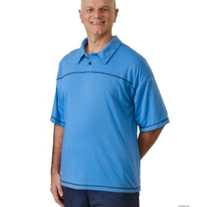 Mens Open Back Adaptive Polo Shirt - Disabled Adults