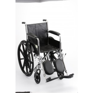 """Wheelchair Steel 18"""" Fixed Full Length Arms Elevating Leg Rest"""