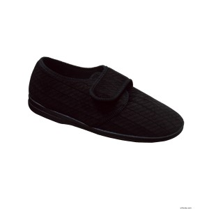 Mens VELCRO Slippers With VELCRO Brand Straps - Wide Fit