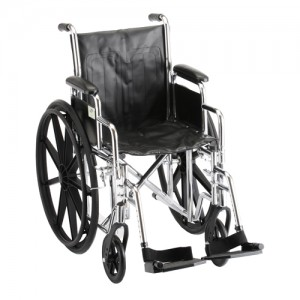 "Wheelchair Steel 16"" Detachable Arms Swing Away Footrests"