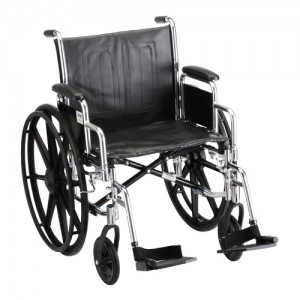 "Wheelchair Steel 20"" Detachable Arms Swing Away Footrests"