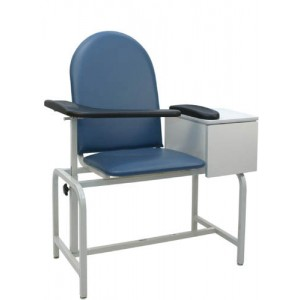 Padded Blood Drawing Chair With Cabinet