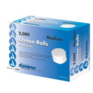 Cotton Roll Non Sterile 1/5 x 3/8 /2000