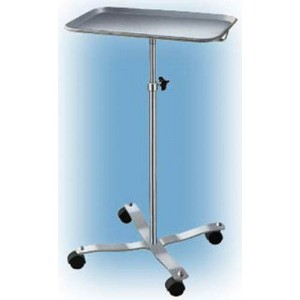 Mayo Instrument Stand With 4-Whl Base With Center Post Tray
