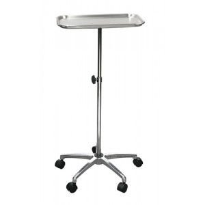Mayo Instrument Stand With 5-Whl Base With Center Post Tray