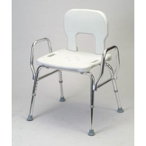 Snap-N-Save Shower Chair With Back & Arms Heavy Duty