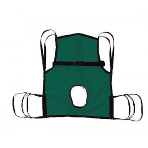 Sling One-Piece With Commode Opening &Position Strap Medium