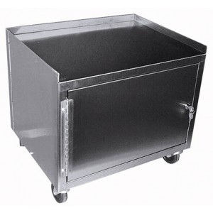 Cabinet Cart With Drawer St/S Single Locking With 1 Shelf
