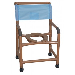 Shower Chair Wide Deluxe PVC Wood-Tone