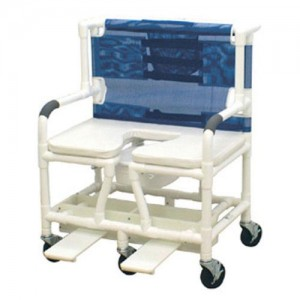 Shower Commode Chair Bari PVC With Dlx Elong Open Soft Seat