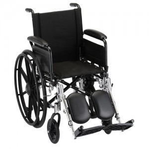"Wheelchair Lightweight 16"" Flip Up Arms Elevating Leg Rest"