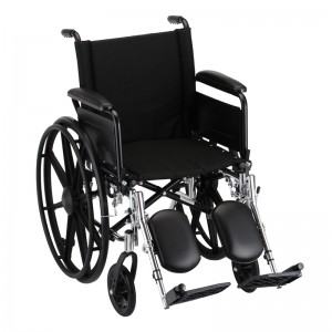 "Wheelchair Lightweight 18"" Flip Up Arms Elevating Leg Rest"