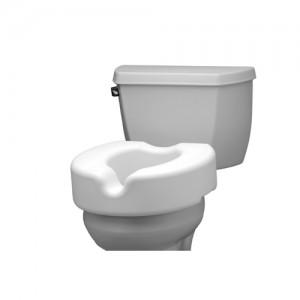 "Raised Toilet Seat - 5"" Non Locking"
