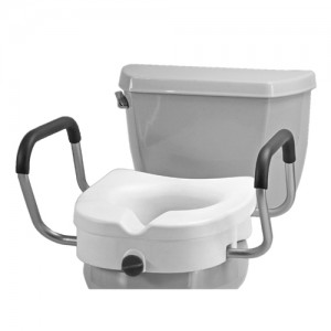 """Raised Toilet Seat With Detachable Arms - 5"""" Locking"""