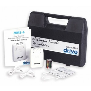 Muscle Stimulator Deluxe Elec With Case Wires &Electrodes