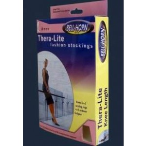 Closed Toe Thigh Stockings Beige Large 15-20 mm High