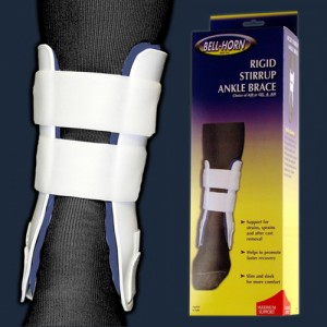 Rigid Stirrup Air Ankle Brace With Hand Pump Short 8 (Small)