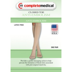 Anti-Embolism Stockings XXLarge 15-20mm High Below Knee Closed Toe