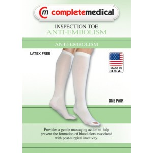 Anti-Embolism Stockings Xl/Reg 15-20mm High Below Knee Open Toe