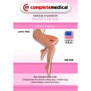 Ladies' Sheer Firm Support Queen 20-30mm High Panty Hose Black