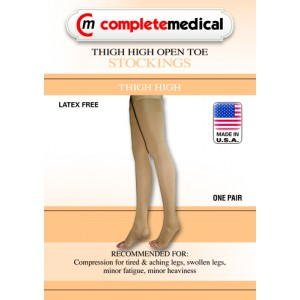 Firm Surgical Weight Stockings X-Large 20-30mm High Thigh With GarterTop CT