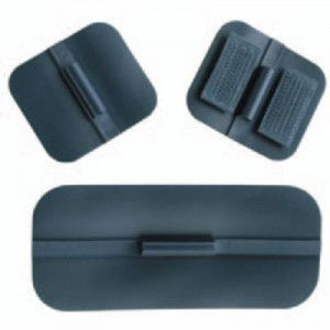 Carbon Rubber Electrodes Pack/4 1  x 4 Rectangle