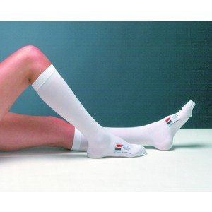 T.E.D. Knee Length- Closed Toe- Large - Long (Pair) White