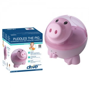 Ultrasonic Cool Mist Pediatric Humidifier-Puddles the Pig
