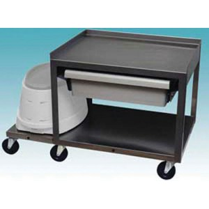 2 Shelf Stainless Cart With Drawer