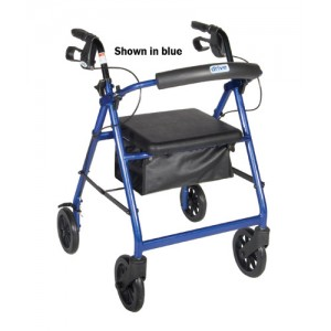 Rollator Aluminum With Fold-Up & Removeable Back Padded Seat