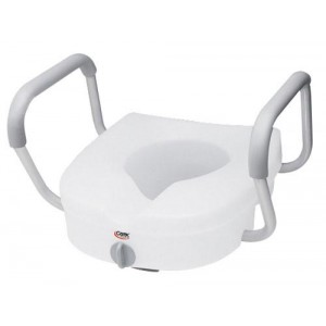 Toilet Seat E-Z Lock With Arms Adjustable Handle Width