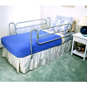 Bed Rails (Carex) (Pair) Home Style/Chrome-plated Steel
