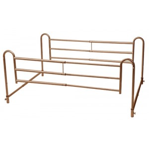 Full Length Home Bed Rails Pr. Brown Vein Finish